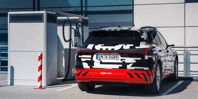 Audi e-tron: 400 kilómetros de autonomía y recarga a 150 kW