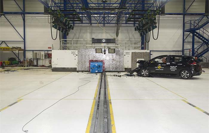 Crash test del nuevo Nissan Leaf para EuroNCAP 2