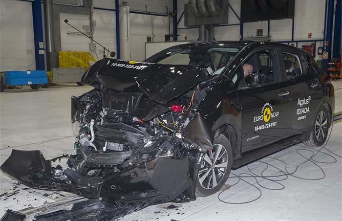 Crash test del nuevo Nissan Leaf para EuroNCAP