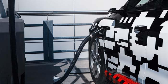 Recarga del Audi e-tron a 150 kW de potencia