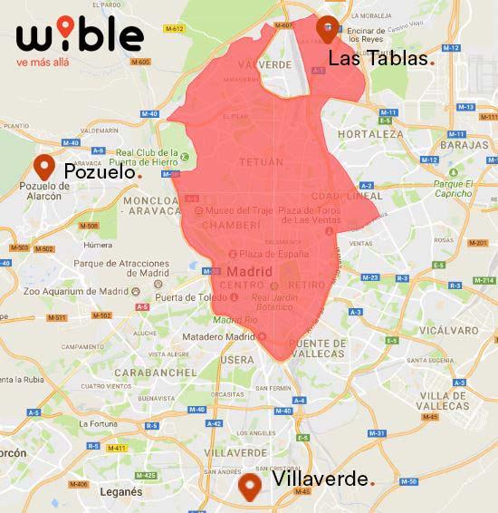 Área de servicio de WiBLE en Madrid