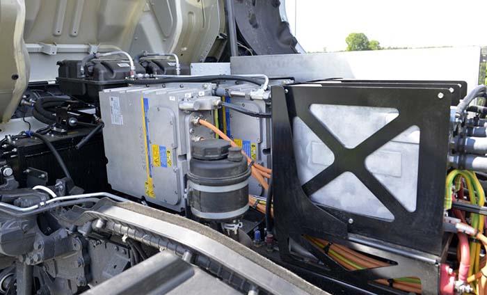 Alguno de los componentes eléctricos del camión eléctrico de DAF