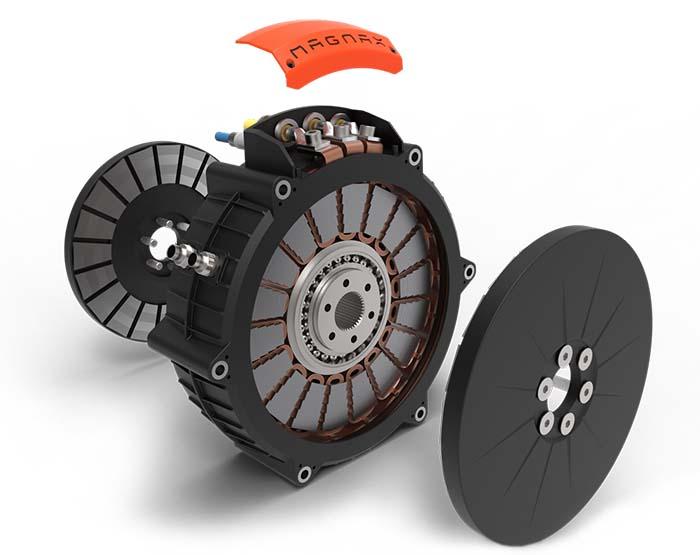 Motor eléctrico de flujo axial de Magnax