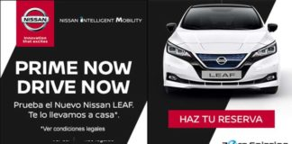 Prueba el nuevo Nissan Leaf en Barcelona y en Madrid a través de Amazon y sin moverte de casa