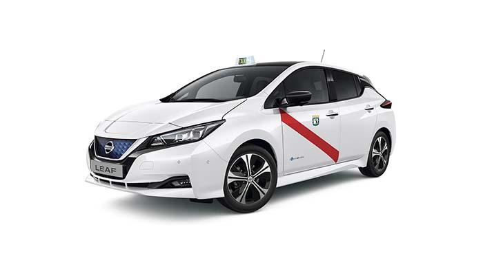 Nuevo Nissan Leaf taxi de Madrid