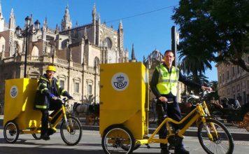 Correos prueba las bicicletas eléctricas de tres ruedas E-cargo