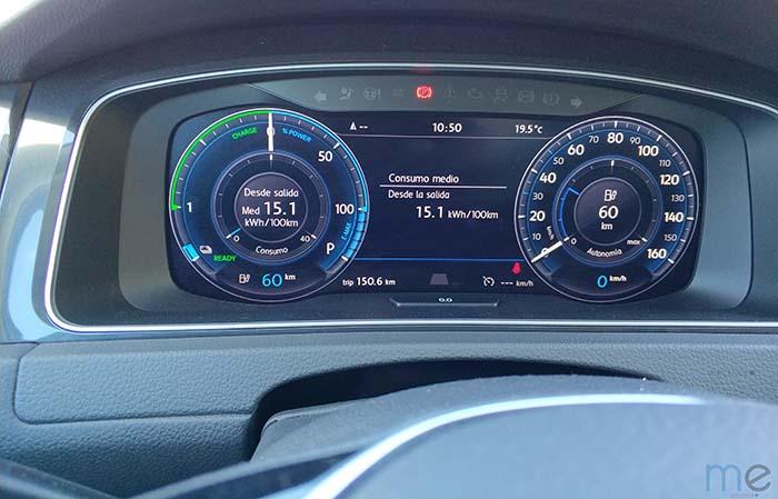 Cuadro de instrumentos digital del Volkswagen e-Golf