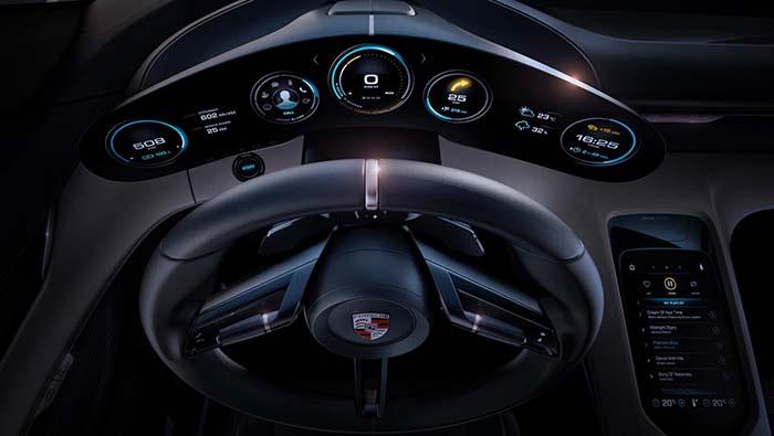 Panel de instrumentación del Porsche Taycan