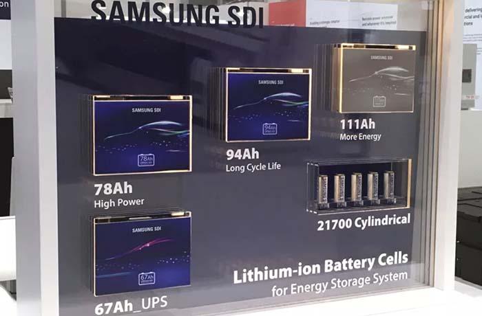 Batería de alta capacidad de Samsung SDI