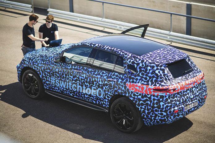 Test altas temperaturas Mercedes EQC