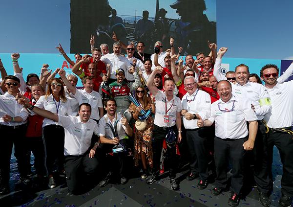 Audi equipo ganador de la Fórmula E