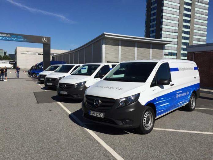 Flota de Mercedes-Benz eVito en Hamburgo