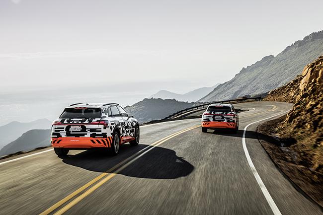 Audi e-tron durante la prueba de Pikes Peak