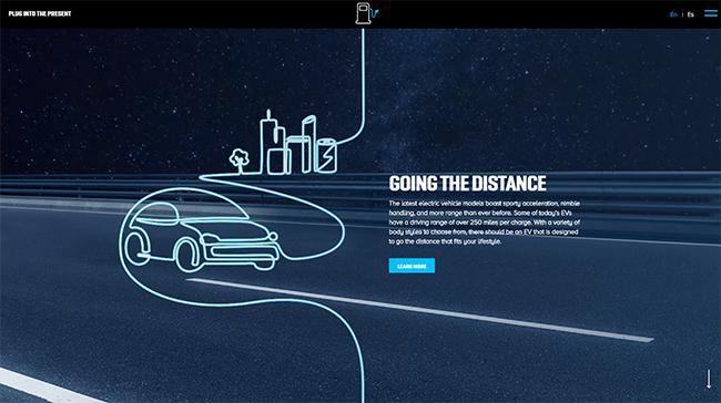Plugintothepresent. Sitio web. Electrify America