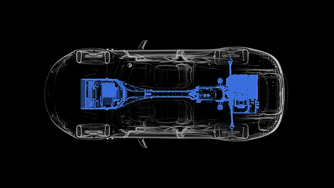 Aston Martin Rapide E Powertrain Diagram