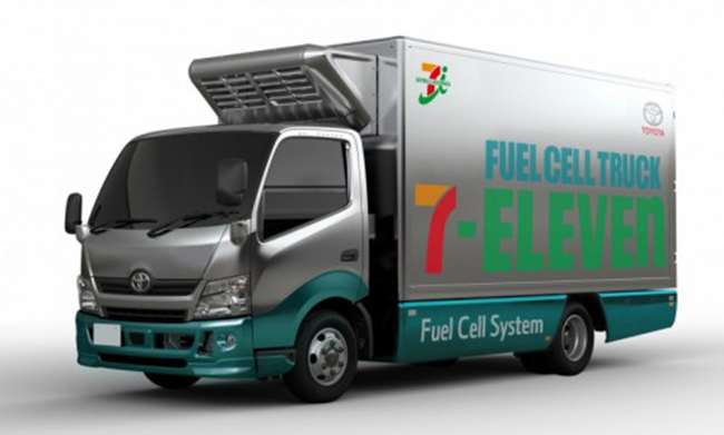 Camión de reparto de hidrógeno de Toyota para 7-Eleven