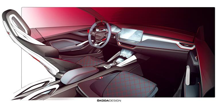 Škoda Vision RS concept interior