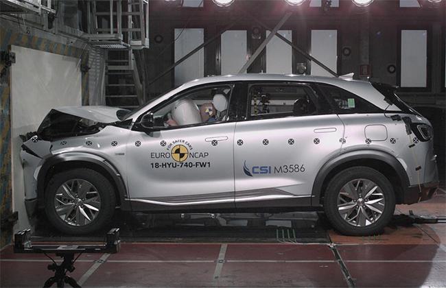 Hyundai Nexo durante las pruebas Euro NCAP