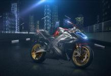 SuperNEX, la moto superdeportiva eléctrica del Grupo KYMCO en la feria de Milán