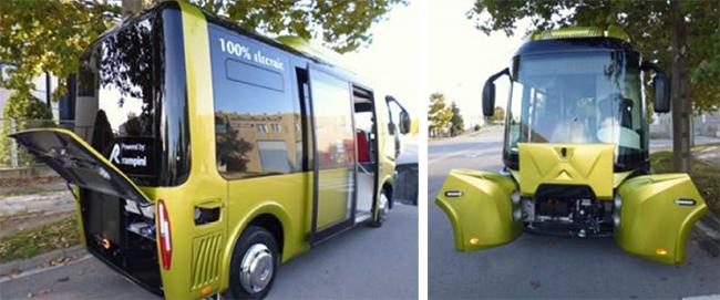 Los microbuses son 100% eléctricos