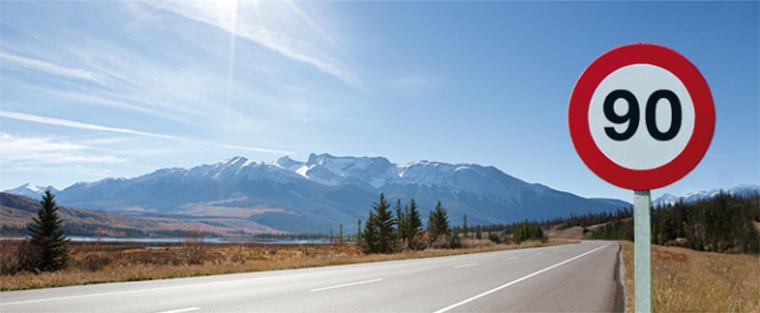 La circulación en carreteras convencionales se reduce en 10 km/h, hasta 90 km/h