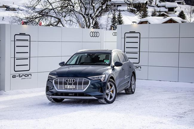 Flota eléctrica de Audi e-tron para el Foro Económico Mundial de Davos