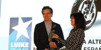 Carlos Sotelo en la entrega de premios Estrella de Luike Motor