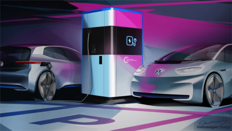Estación de carga móvil de Volkswagen