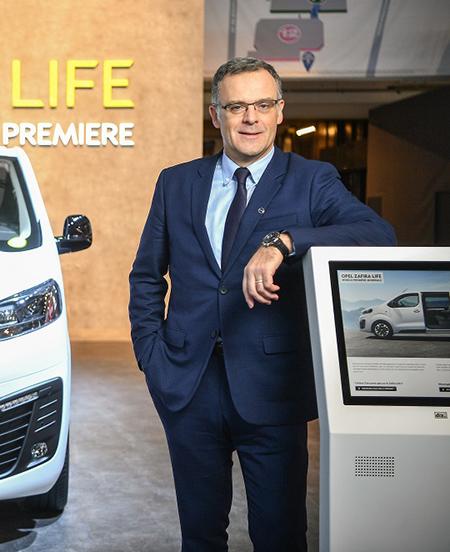 Xavier Duchemin, en el Brussels Motor Show 2019