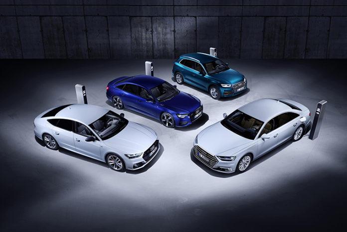 Audi, nuevas versiones híbrido-enchufables de los modelos Q5, A6, A7 y A8
