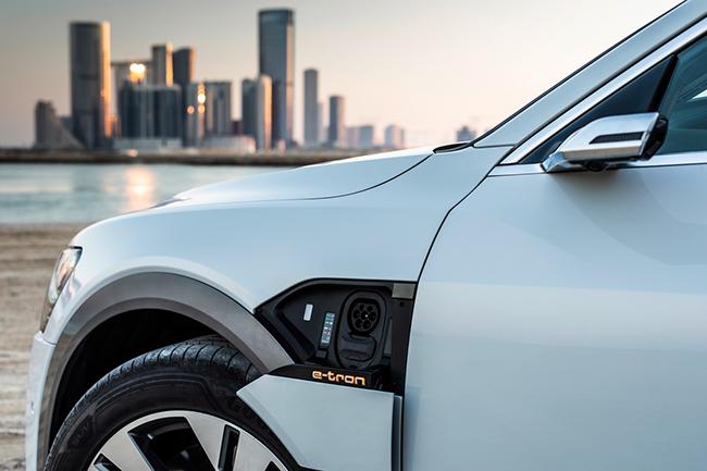 Toma de carga del Audi e-tron