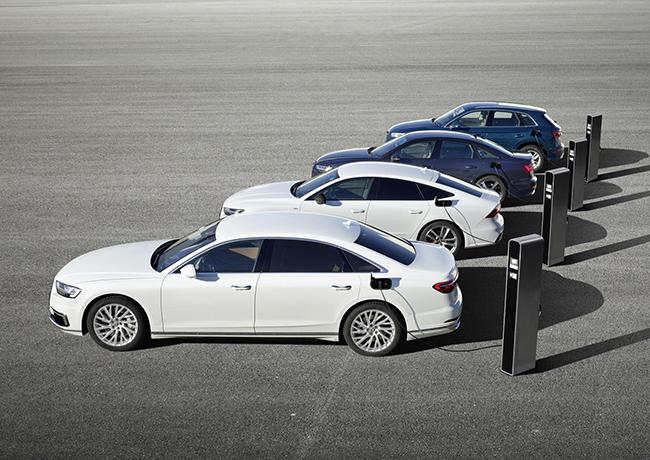 Las nuevas versiones híbrido-enchufables de los Audi Q5, A6, A7 y A8.