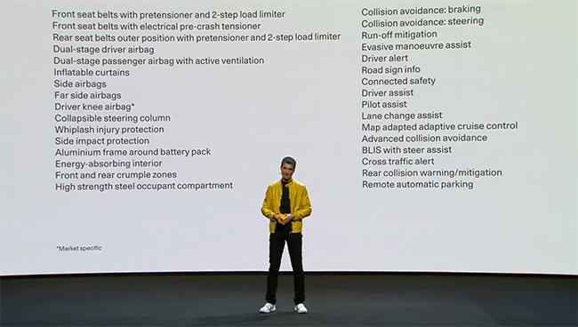 Thomas Ingenlath, Director Ejecutivo de Polestar, presentando el Polestar 2