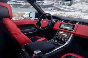 Interior en piel del nuevo Range Rover Sport