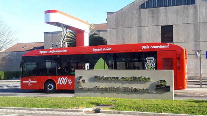 Autobuses eléctricos Vectia en la línea 1 de Irún