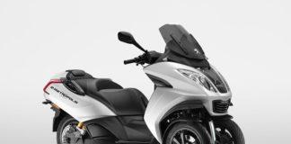 E-Metropolis, la versión eléctrica del scooter de tres ruedas de Peugeot Motocycles