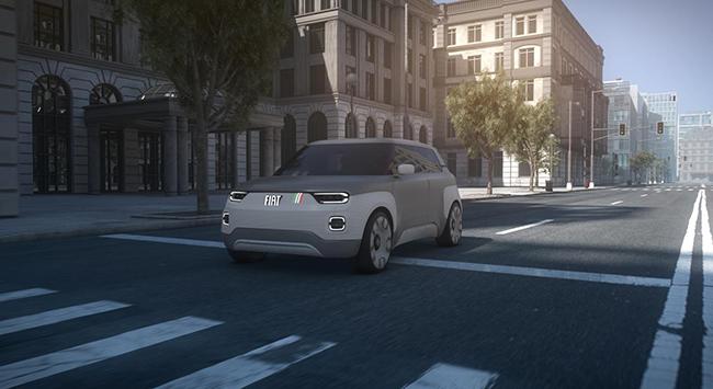 El Fiat Concept Centoventi es un coche urbano, pero también puede hacer viajes largos, gracias a sus posibilidades de autonomía