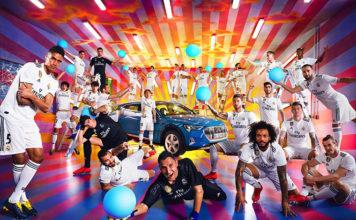 Jornada de fotos del equipo del Real Madrid, el Audi e-tron y David LaChapelle