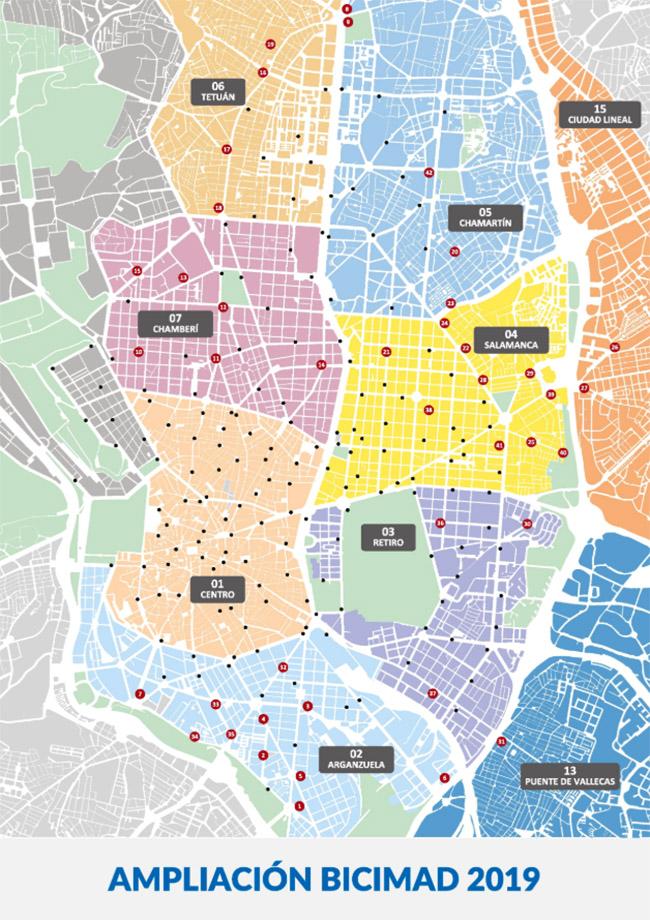 Ampliación de BiciMAD en ocho distritos de Madrid.