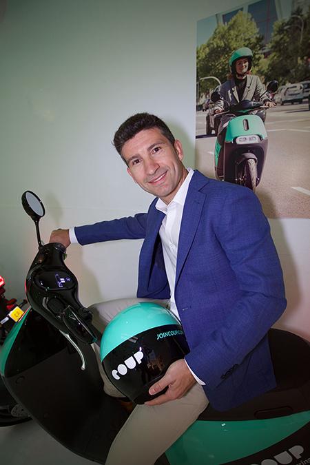 COUP es una empresa de motosharing que lleva varios meses operando con éxito en Madrid