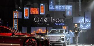 Marc Lichte, Director de Diseño de Audi AG, durante la presentación del concept Audi Q4 e-tron en Ginebra