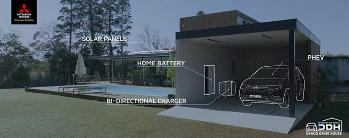 Dendo Drive House, la solución eficiente para producir y compartir energía de Mitsubishi Motors Corporation.