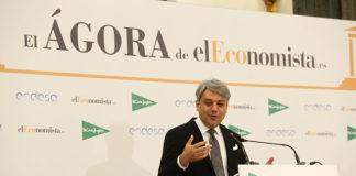 Luca de Meo durante su intervención en el ciclo de conferencias Ágora que elEconomista ha organizado en Madrid.