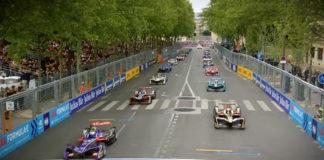 París. Salida de la carrera de la Fórmula E 2018.
