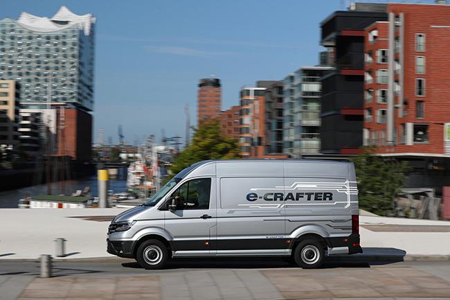 El e-Crafter se beneficia de todas las ventajas de uso de un vehículo de cero emisiones