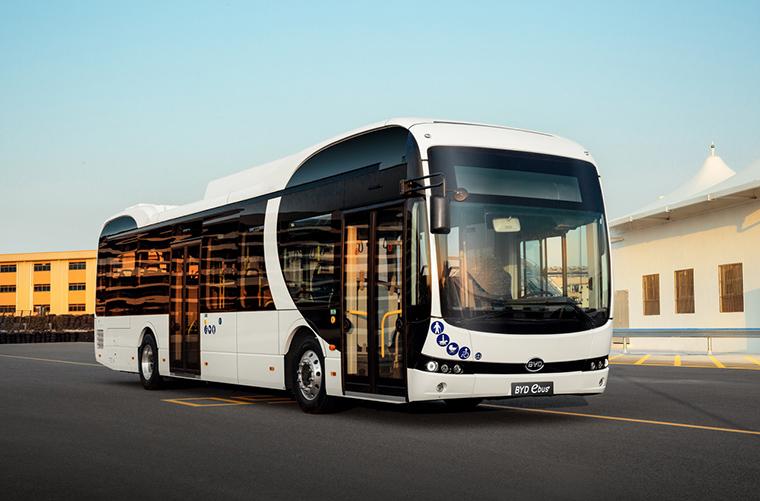 Autobuses eléctricos BYD, de 12 metros, para la EMT de Madrid.