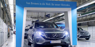 Mercedes-Benz EQC 400 en la planta de producción de Bremen, en Alemania.