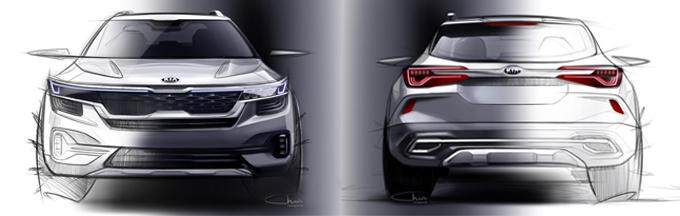 Dibujos del nuevo SUV compacto de Kia.