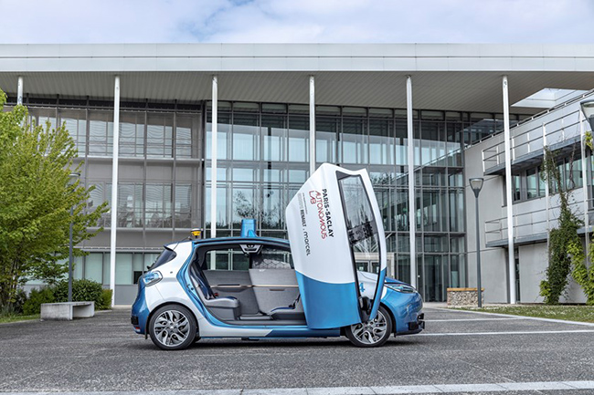 El Renault ZOE Cab es el vehículo autónomo del proyecto París- Saclay Autonomous Lab.
