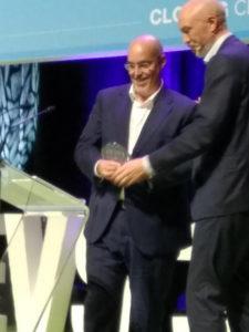 El premio E-Visionary de EVS lo ha recogido el director general de AEDIVE, en representación de Madrid.